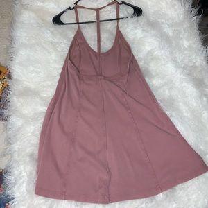 Pink corduroy-like mini dress